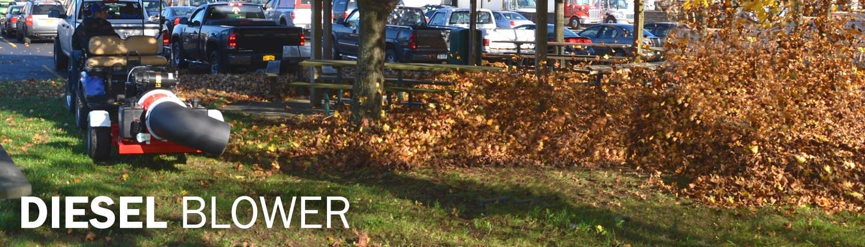Diesel debris blower leaf blower