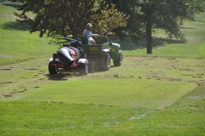 Tow Behind Blower for Golf Courses