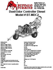 Diesel Dust & Odor Control - Buffalo Turbine